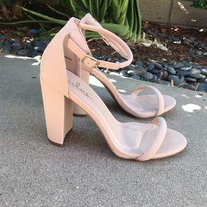 🔥SALE [Lulu's] Nude Ankle Strap Heels